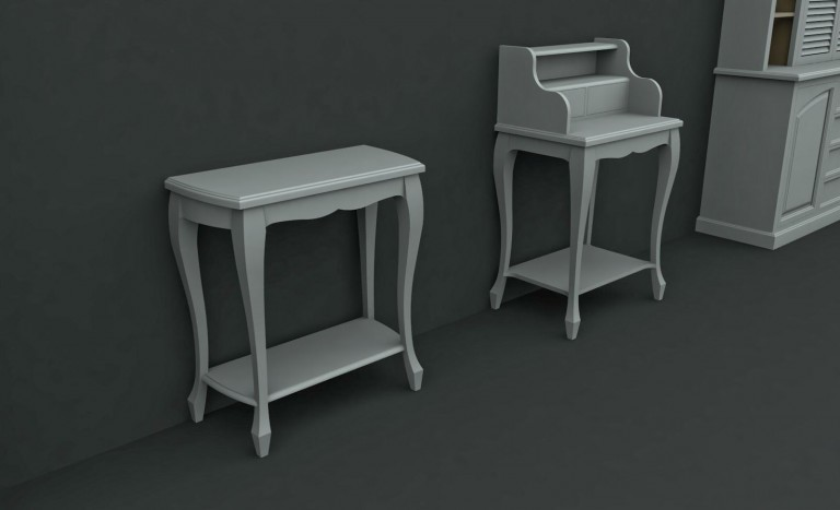 Ador Mobila Brasov - mobilier la comanda lemn brad stil rustic pictat comoda hol