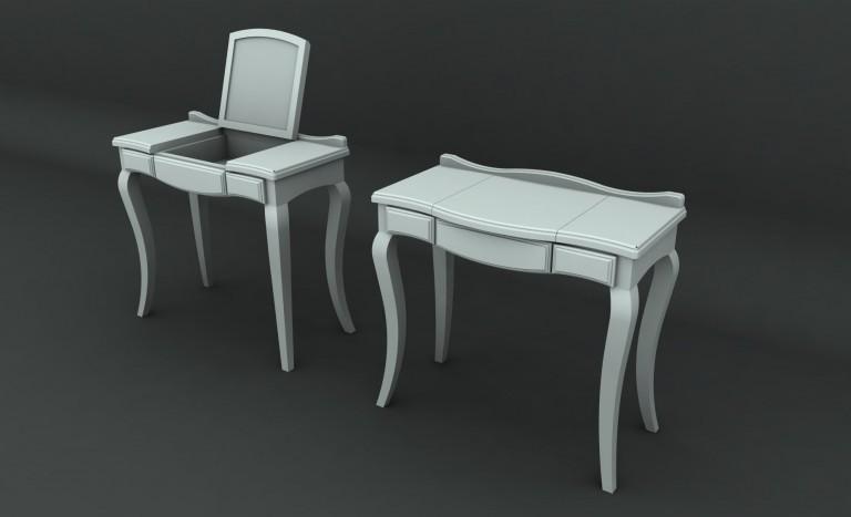 Ador Mobila Brasov - mobilier la comanda lemn brad stil rustic pictat masa de toaleta